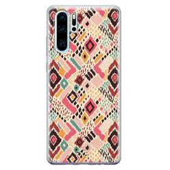 Telefoonhoesje Store Huawei P30 Pro siliconen hoesje - Boho vibes