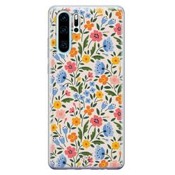 Telefoonhoesje Store Huawei P30 Pro siliconen hoesje - Romantische bloemen