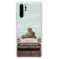Telefoonhoesje Store Huawei P30 Pro siliconen hoesje - Chill tijger