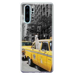 ELLECHIQ Huawei P30 Pro siliconen hoesje - Lama in taxi