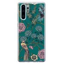 Telefoonhoesje Store Huawei P30 Pro siliconen hoesje - Bloomy birds