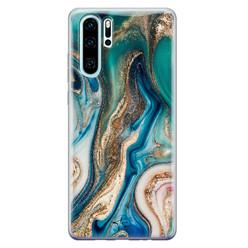 Telefoonhoesje Store Huawei P30 Pro siliconen hoesje - Magic marble