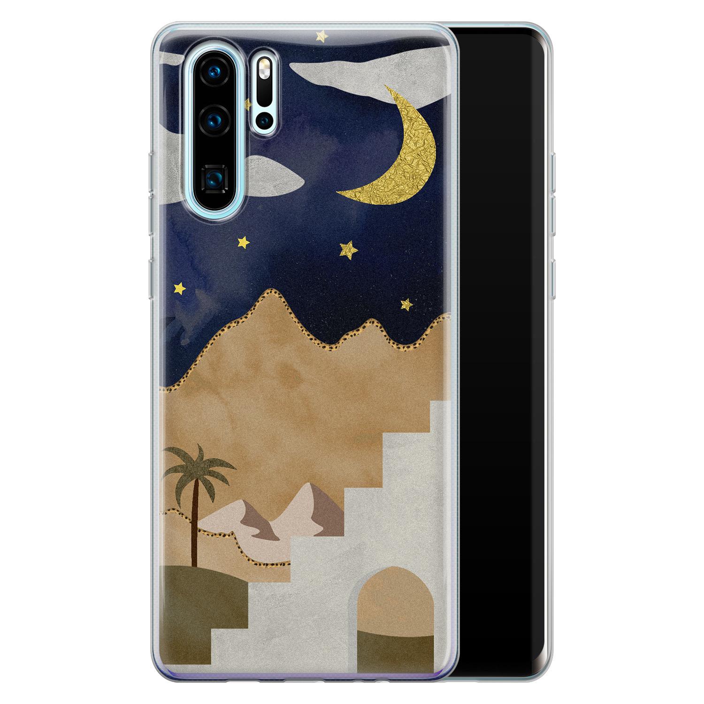 Leuke Telefoonhoesjes Huawei P30 Pro siliconen hoesje - Desert night