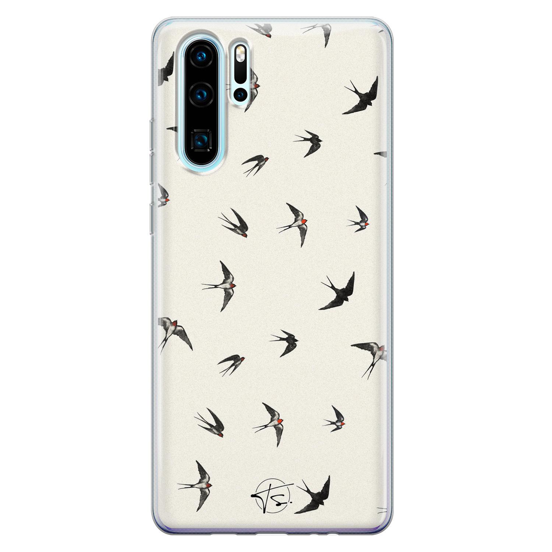Telefoonhoesje Store Huawei P30 Pro siliconen hoesje - Freedom birds