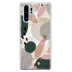 Leuke Telefoonhoesjes Huawei P30 Pro siliconen hoesje - Abstract print