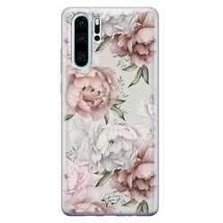 Telefoonhoesje Store Huawei P30 Pro siliconen hoesje - Classy flowers