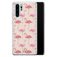 Telefoonhoesje Store Huawei P30 Pro siliconen hoesje - Flamingo
