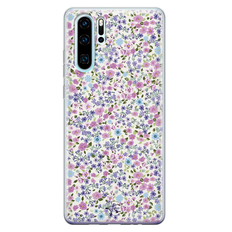 Telefoonhoesje Store Huawei P30 Pro siliconen hoesje - Purple Garden