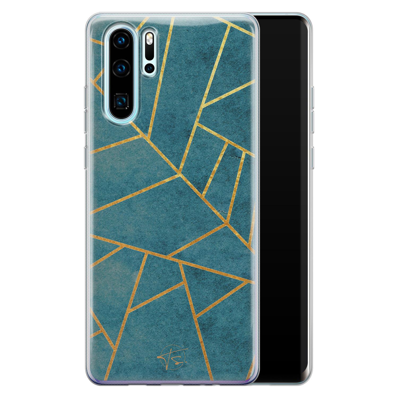 Telefoonhoesje Store Huawei P30 Pro siliconen hoesje - Abstract blauw