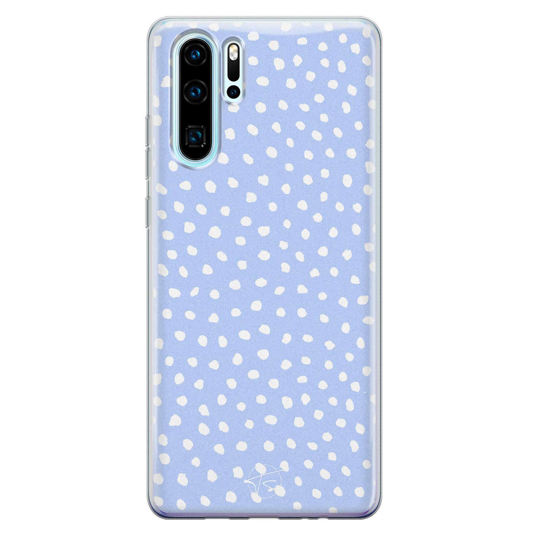 Telefoonhoesje Store Huawei P30 Pro siliconen hoesje - Purple dots
