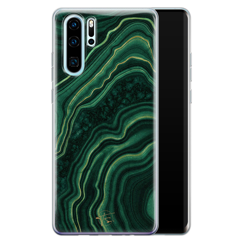 Telefoonhoesje Store Huawei P30 Pro siliconen hoesje - Agate groen