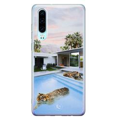 ELLECHIQ Huawei P30 siliconen hoesje - Tiger pool