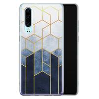 Telefoonhoesje Store Huawei P30 siliconen hoesje - Geometrisch fade art