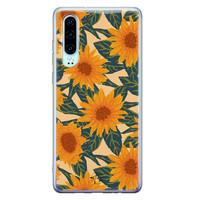 Telefoonhoesje Store Huawei P30 siliconen hoesje - Zonnebloemen