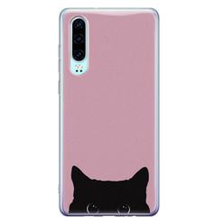 Telefoonhoesje Store Huawei P30 siliconen hoesje - Zwarte kat