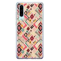 Telefoonhoesje Store Huawei P30 siliconen hoesje - Boho vibes