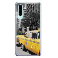 ELLECHIQ Huawei P30 siliconen hoesje - Lama in taxi