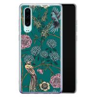 Telefoonhoesje Store Huawei P30 siliconen hoesje - Bloomy birds