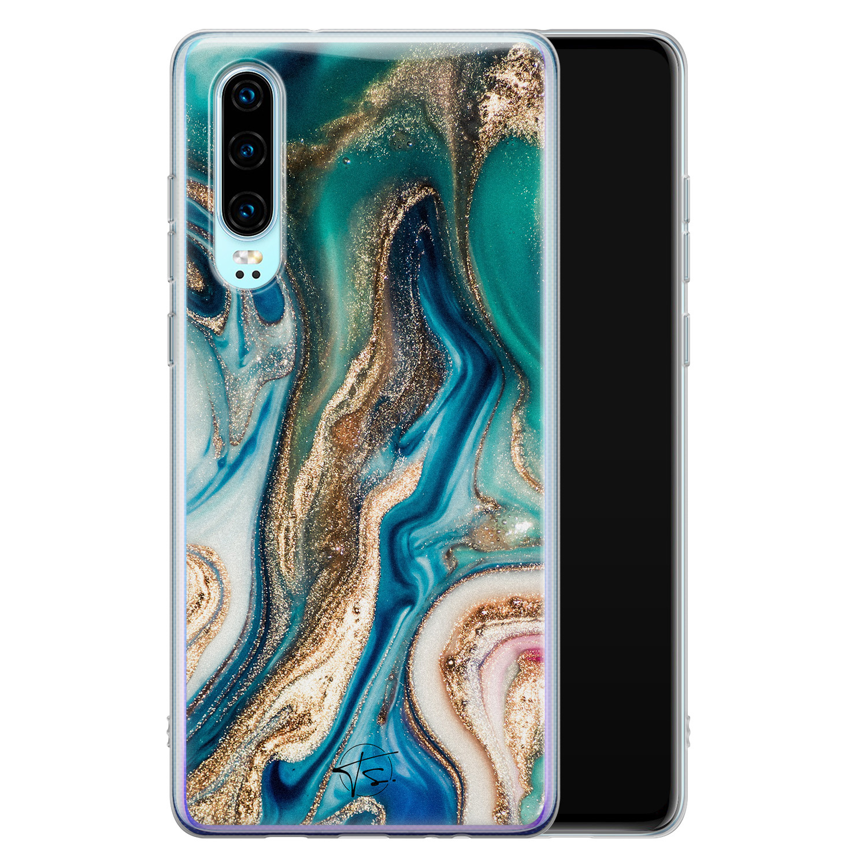 Telefoonhoesje Store Huawei P30 siliconen hoesje - Magic marble
