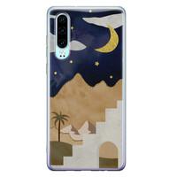 Leuke Telefoonhoesjes Huawei P30 siliconen hoesje - Desert night