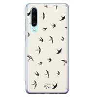 Telefoonhoesje Store Huawei P30 siliconen hoesje - Freedom birds
