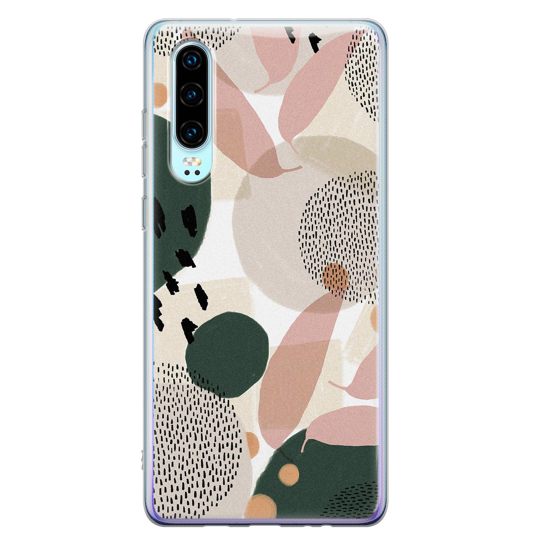 Leuke Telefoonhoesjes Huawei P30 siliconen hoesje - Abstract print