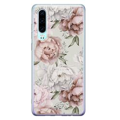 Telefoonhoesje Store Huawei P30 siliconen hoesje - Classy flowers