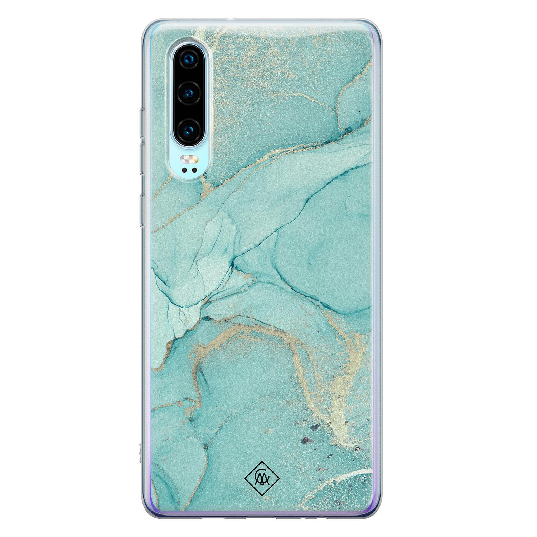 Casimoda Huawei P30 siliconen hoesje - Touch of mint