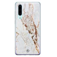 Casimoda Huawei P30 siliconen hoesje - Marmer goud