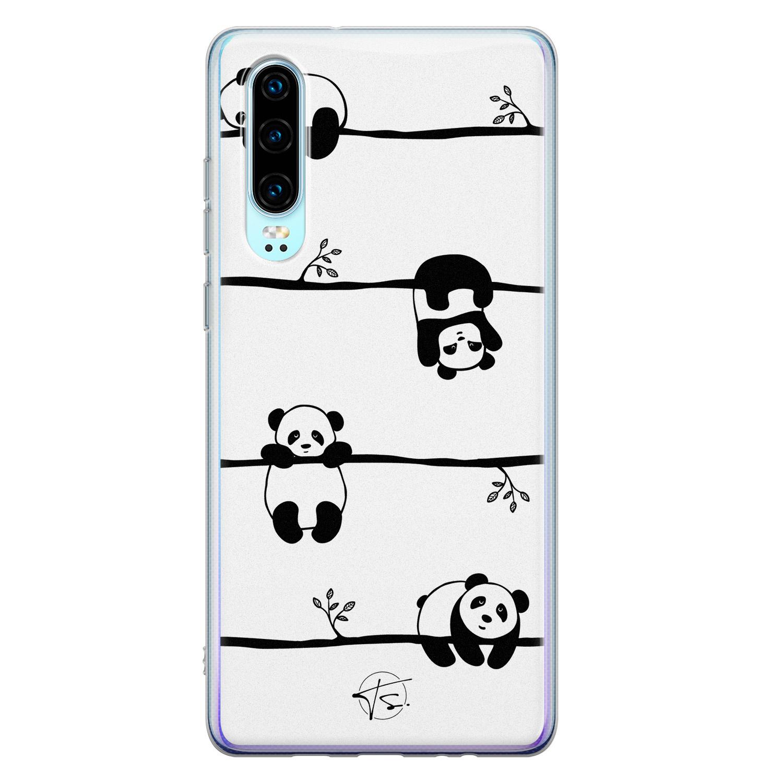 Telefoonhoesje Store Huawei P30 siliconen hoesje - Panda