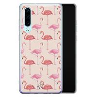 Telefoonhoesje Store Huawei P30 siliconen hoesje - Flamingo
