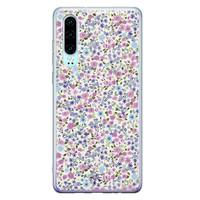 Telefoonhoesje Store Huawei P30 siliconen hoesje - Purple Garden