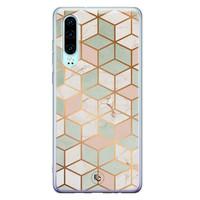 ELLECHIQ Huawei P30 siliconen hoesje - Pastel Kubus