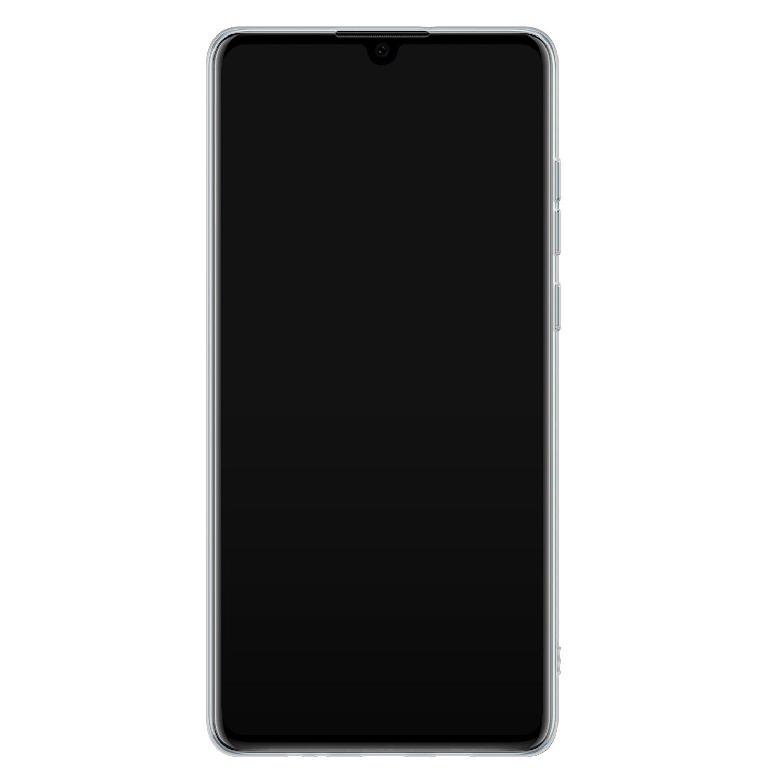 ELLECHIQ Huawei P30 siliconen hoesje - Marble Khaki Swirl