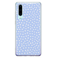 Telefoonhoesje Store Huawei P30 siliconen hoesje - Purple dots