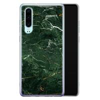 ELLECHIQ Huawei P30 siliconen hoesje - Marble jade green