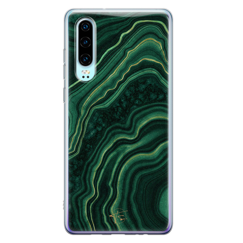 Telefoonhoesje Store Huawei P30 siliconen hoesje - Agate groen