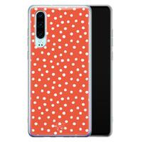 Telefoonhoesje Store Huawei P30 siliconen hoesje - Orange dots