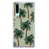 Telefoonhoesje Store Huawei P30 siliconen hoesje - Palmbomen
