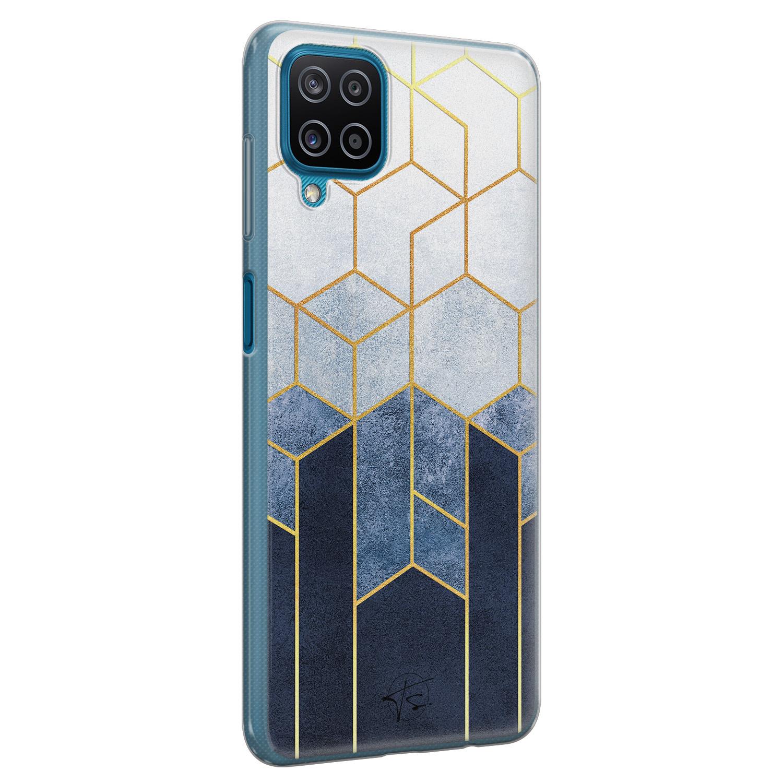 Telefoonhoesje Store Samsung Galaxy A12 siliconen hoesje - Geometrisch fade art