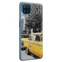 ELLECHIQ Samsung Galaxy A12 siliconen hoesje - Lama in taxi