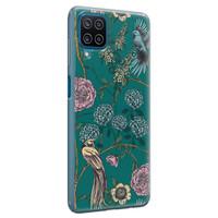 Telefoonhoesje Store Samsung Galaxy A12 siliconen hoesje - Bloomy birds