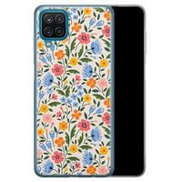 Telefoonhoesje Store Samsung Galaxy A12 siliconen hoesje - Romantische bloemen