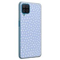 Telefoonhoesje Store Samsung Galaxy A12 siliconen hoesje - Purple dots