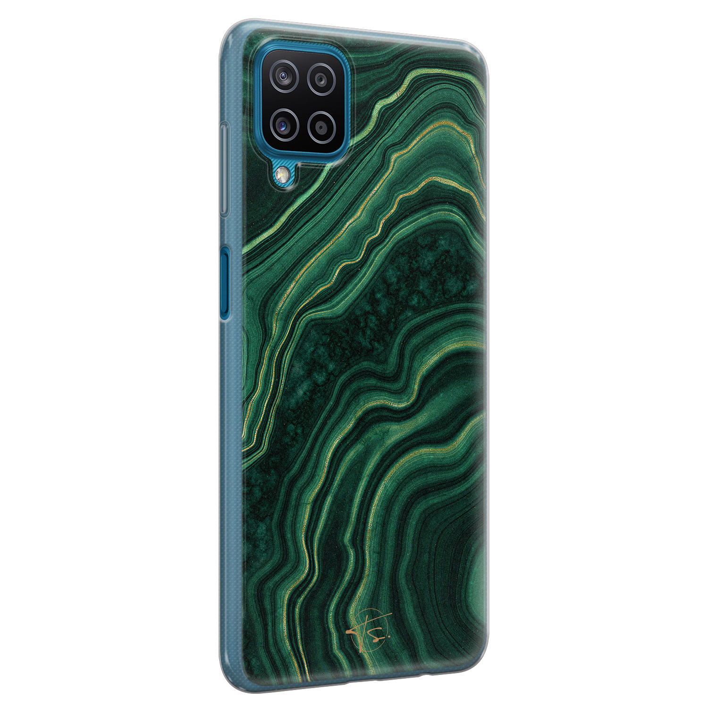 Telefoonhoesje Store Samsung Galaxy A12 siliconen hoesje - Agate groen