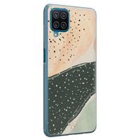Telefoonhoesje Store Samsung Galaxy A12 siliconen hoesje - Abstract peach