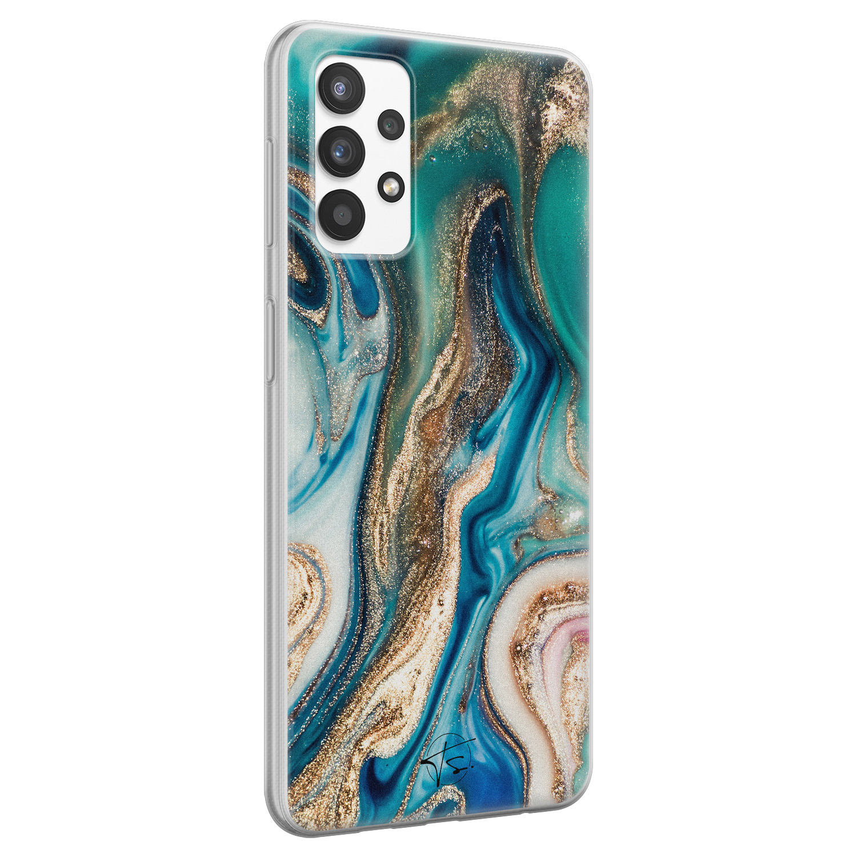 Telefoonhoesje Store Samsung Galaxy A32 4G siliconen hoesje - Magic marble