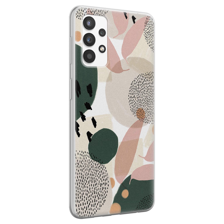 Leuke Telefoonhoesjes Samsung Galaxy A32 4G siliconen hoesje - Abstract print
