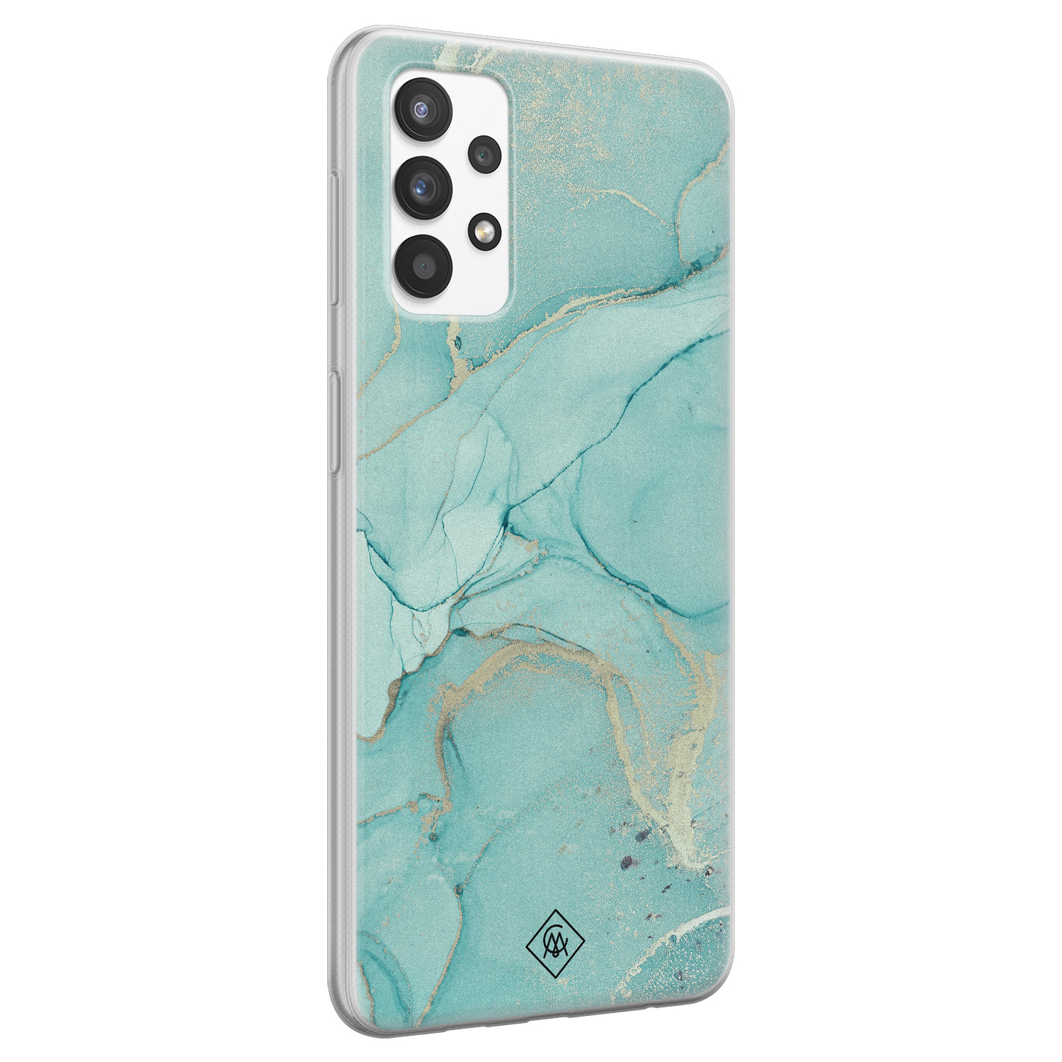 Casimoda Samsung Galaxy A32 4G siliconen hoesje - Touch of mint