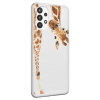 Leuke Telefoonhoesjes Samsung Galaxy A32 4G siliconen hoesje - Giraffe peekaboo